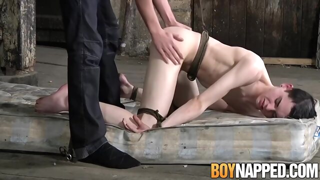 Kinky Twink Aaron Aurora Tied And Pov From Behind bdsm gaysex